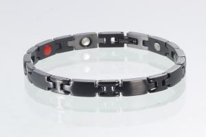 E8698BL - 4-Elemente Armband schwarz