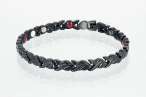 E8333BL - 4-Elemente Armband schwarz