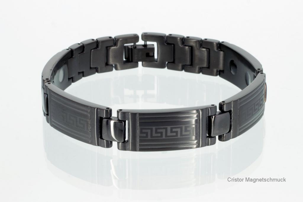 E8079BL - 4-Elemente Armband schwarz