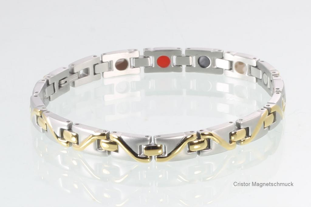 H9002BSet2 - Halskette und Energiearmband im Set bicolor
