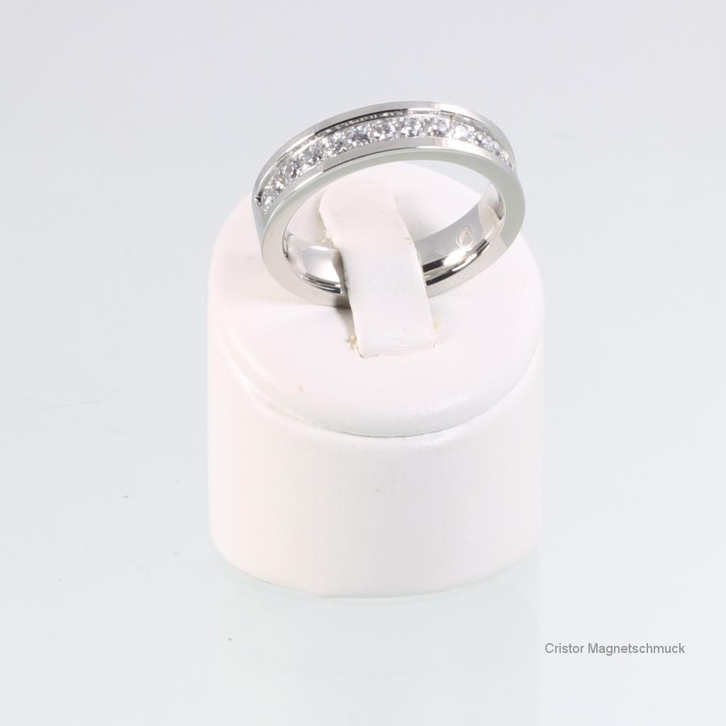 TE8107SZSet - Titan-Energiearmband Ohrringe und Ring im Set