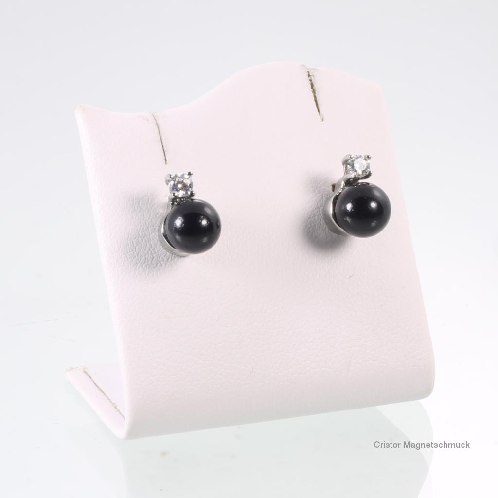 E8233BLSZSet - Energiearmband und Ohrringe im Set schwarz