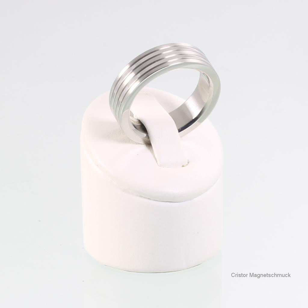 E8327S2Set - Energiearmband und Ring im Set silberfarben