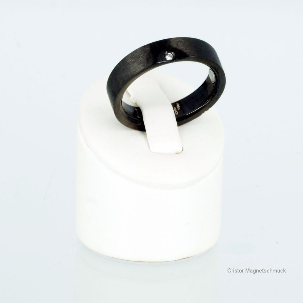 8368BL4Set2 - Magnetschmuckset schwarz