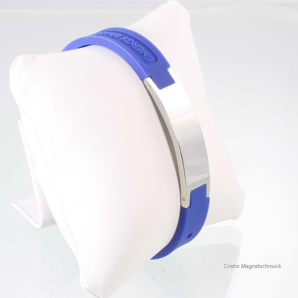 KEB9020SSet - Magnetschmuckset silber blau
