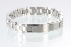8036S - Magnetarmband silberfarben