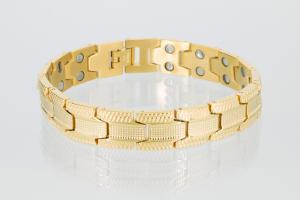 8078G - Doppelreihiges Magnetarmband goldfarben