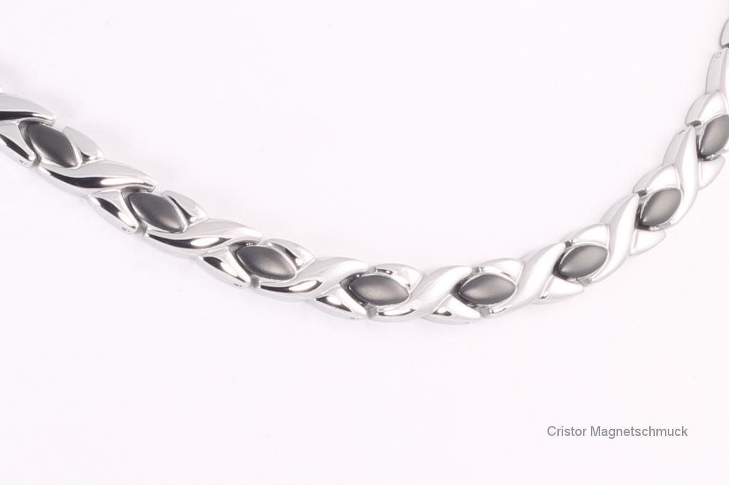 H9024BLS - Halskette silber schwarz