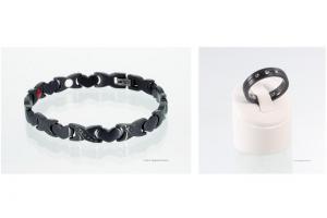 Energiearmband und Ring im Set schwarz - e8050blset
