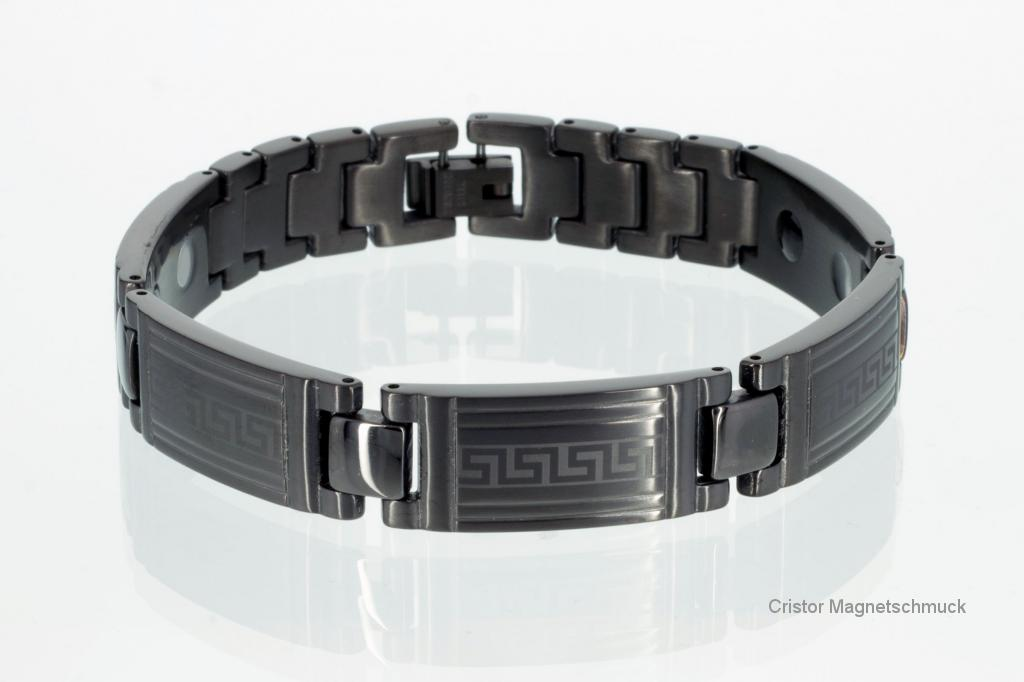 E8079BLSet - Energiearmband und Ring im Set schwarz