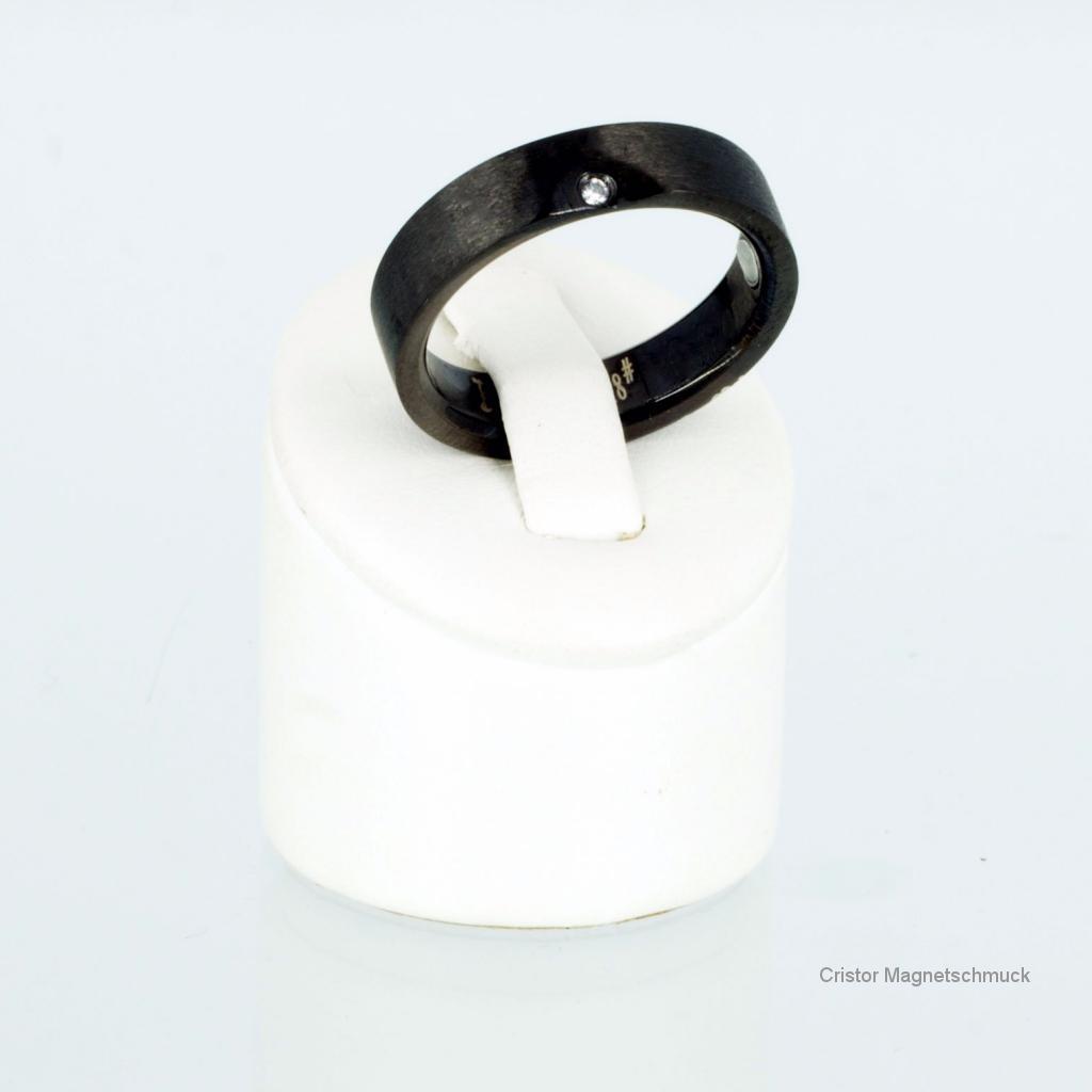 E8214BLGSet - Energiearmband und Ring im Set schwarz
