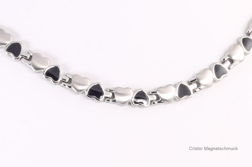H9035BLS - Halskette silber schwarz