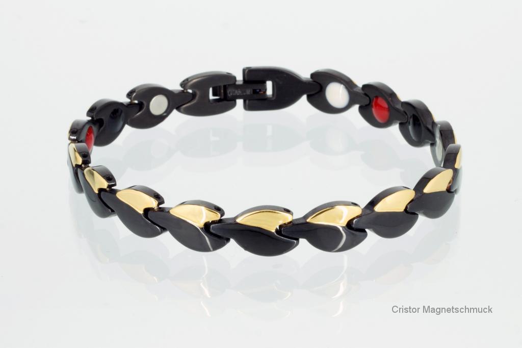 TE8123BLG2 - Titan-Energiearmband schwarz gold