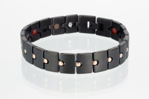 TE8237BLRG - Titan-Energiearmband rosegold schwarz