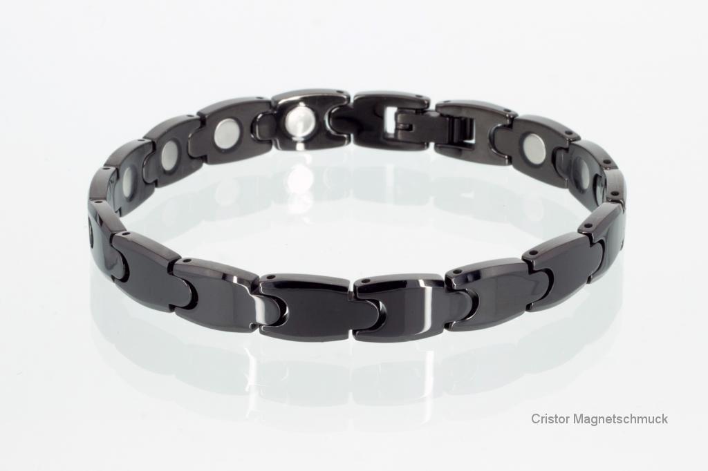 W8943BLD - Wolfram-Magnetarmband schwarz