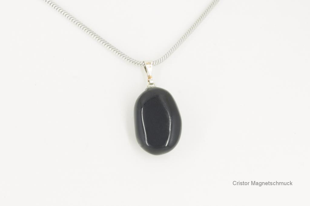 A4613ES - Edelsteinanhänger Regenbogen-Obsidian mit Magnetkette