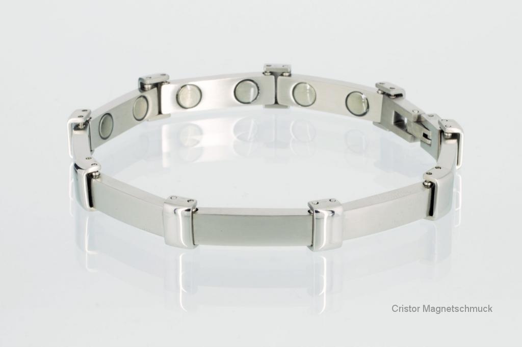 8054S - Magnetarmband silberfarben