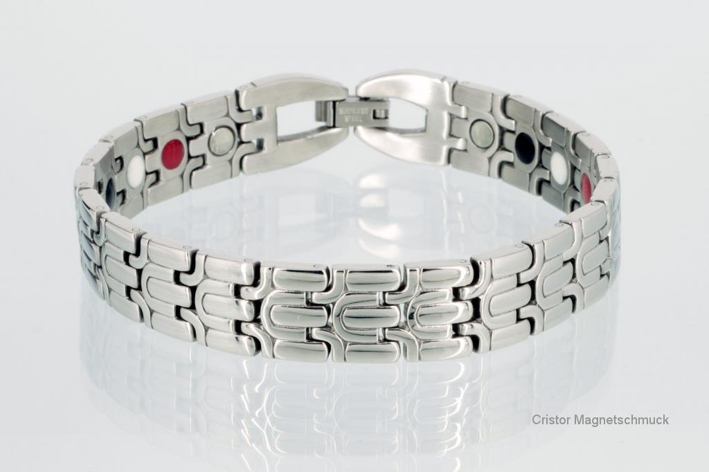 E8067S2 - 4-Elemente Armband silberfarben