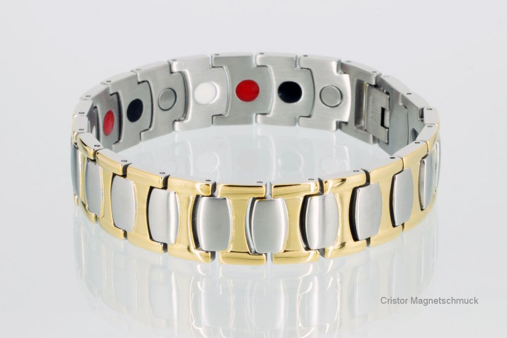 E8571Bb - 4-Elemente Armband bicolor