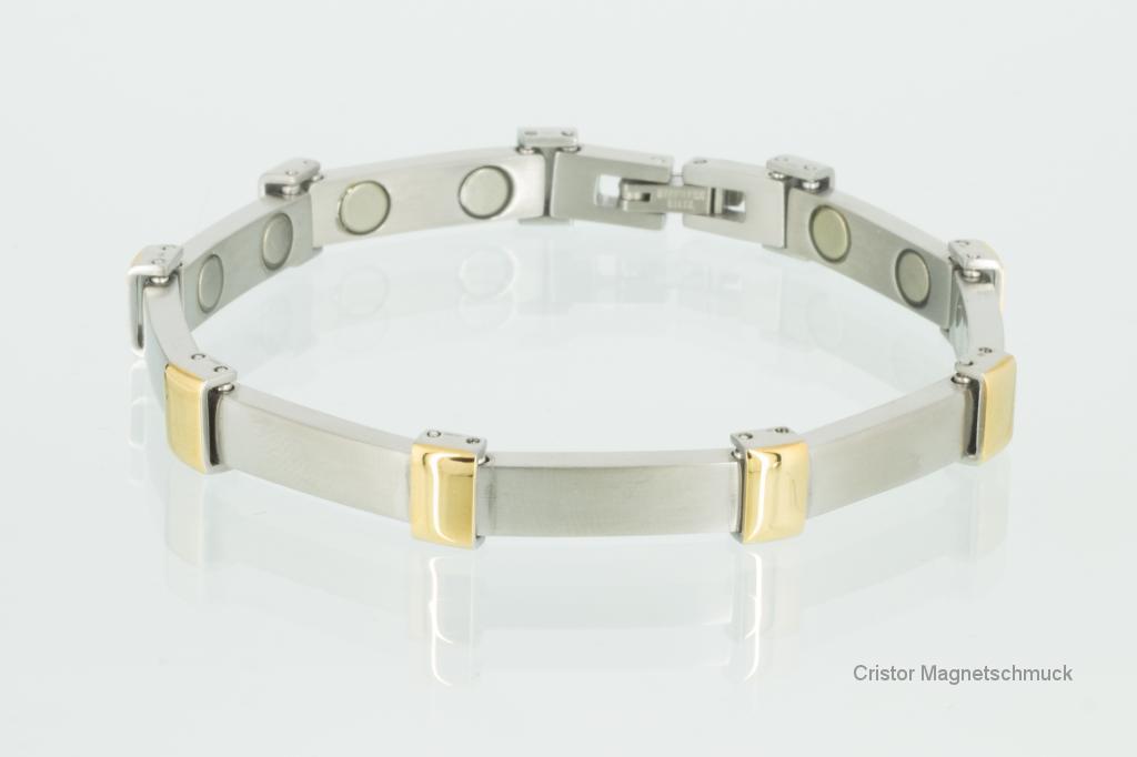 8056BP - Magnetarmbänder als Partnerset bicolor