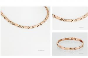 H9041RGSet - Halskette und Energiearmband im Set rosegold