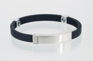 KBL9101S - Magnetarmband in silber schwarz