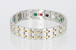 E8008B - 5-Elemente Armband bicolor