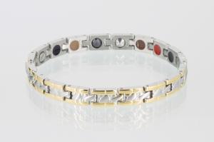 E8085B - 5-Elemente Armband bicolor