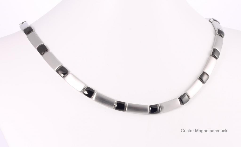 H9058BL - Halskette silber schwarz