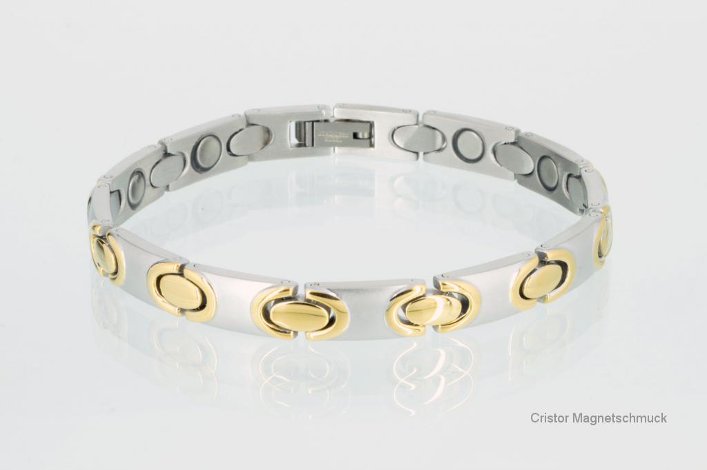 H9011BSet - Halskette und Armband im Set bicolor
