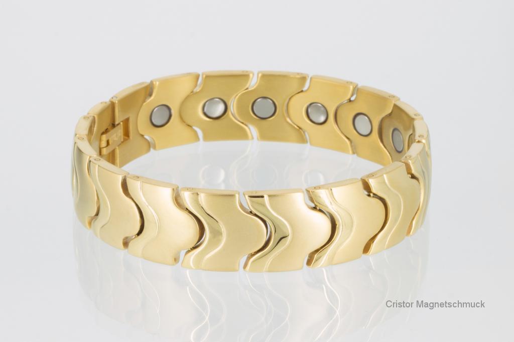8086G - Magnetarmband goldfarben