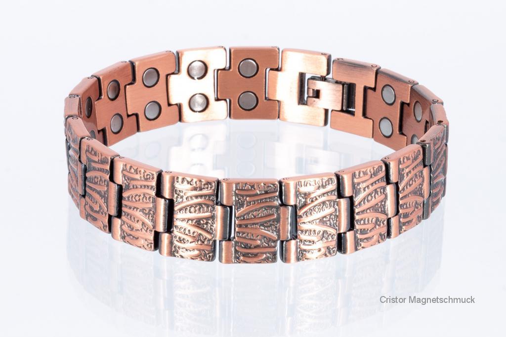 CU8422 - Doppelreihiges Kupfer - Magnetarmband