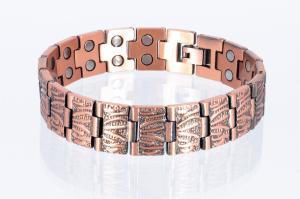 Doppelreihiges Kupfer - Magnetarmband - cu8422
