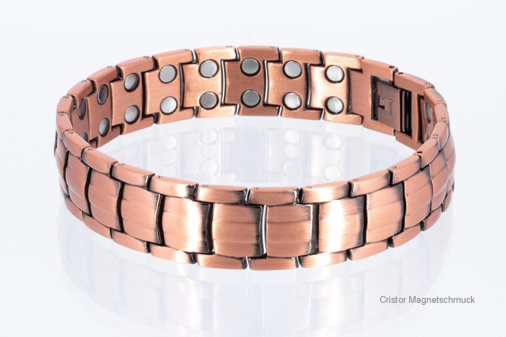 CU8901 - Doppelreihiges Kupfer - Magnetarmband