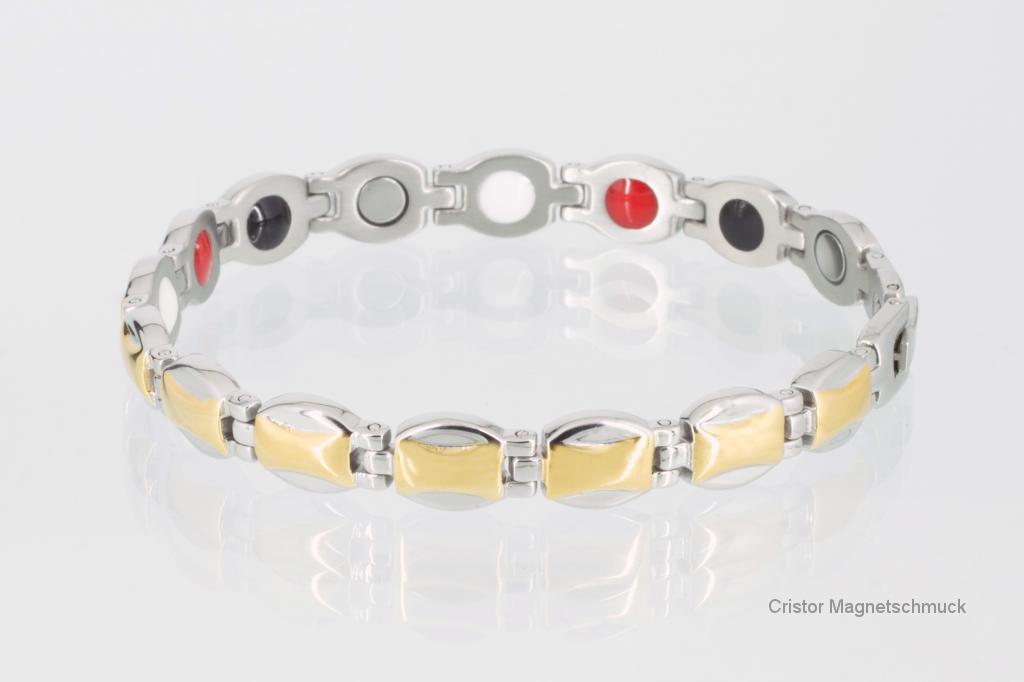 E8111B2 - 4-Elemente Armband bicolor