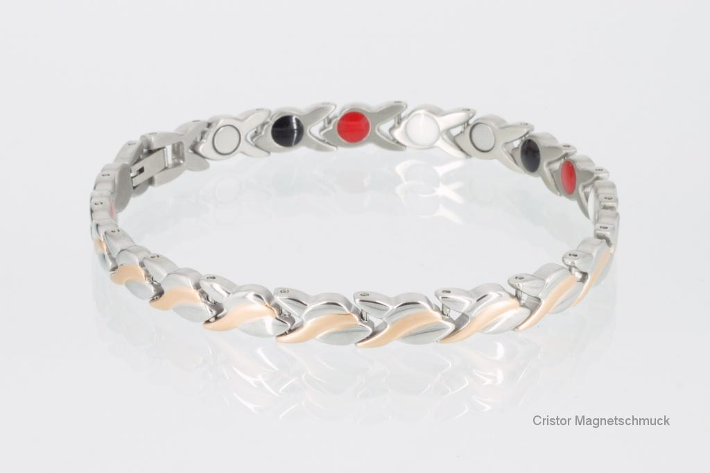 E8333RGS - 4-Elemente Armband silber rosegold