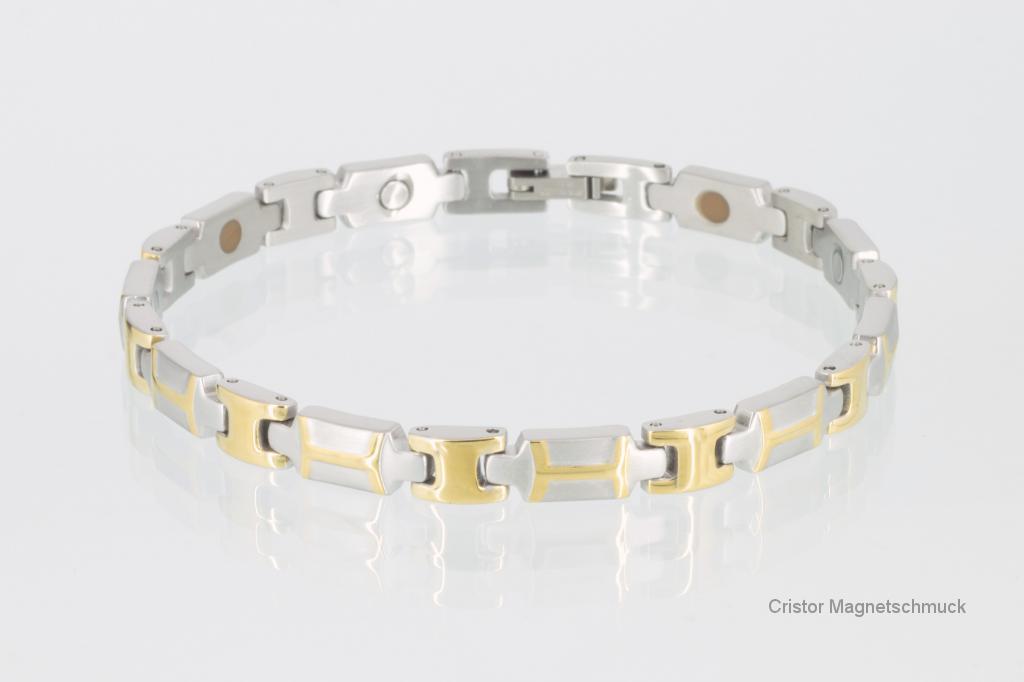 E8082B - 4-Elemente Armband bicolor