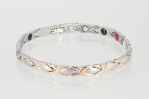 E8011RGS - 4-Elemente Armband silber rosegold