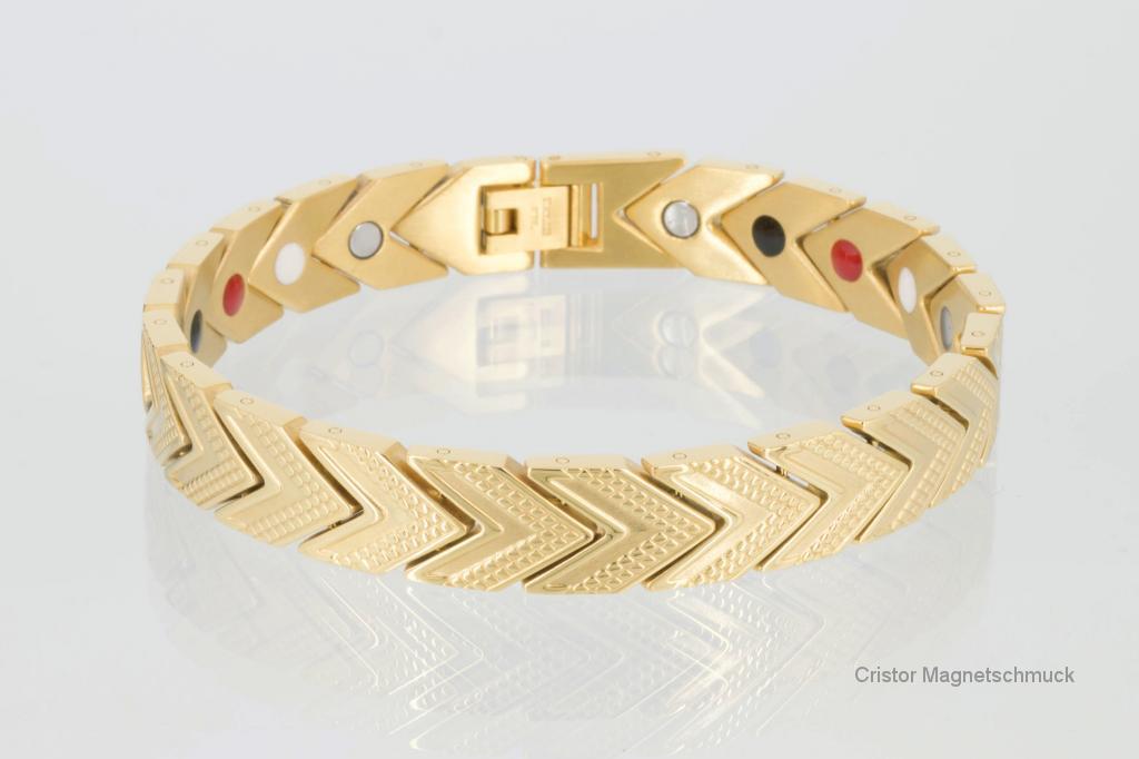 E8113G - 4-Elemente Armband goldfarben