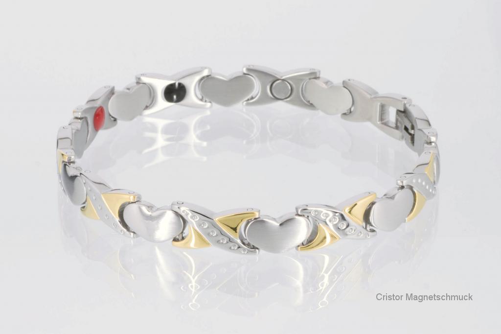 E8050B - 4-Elemente Armband bicolor