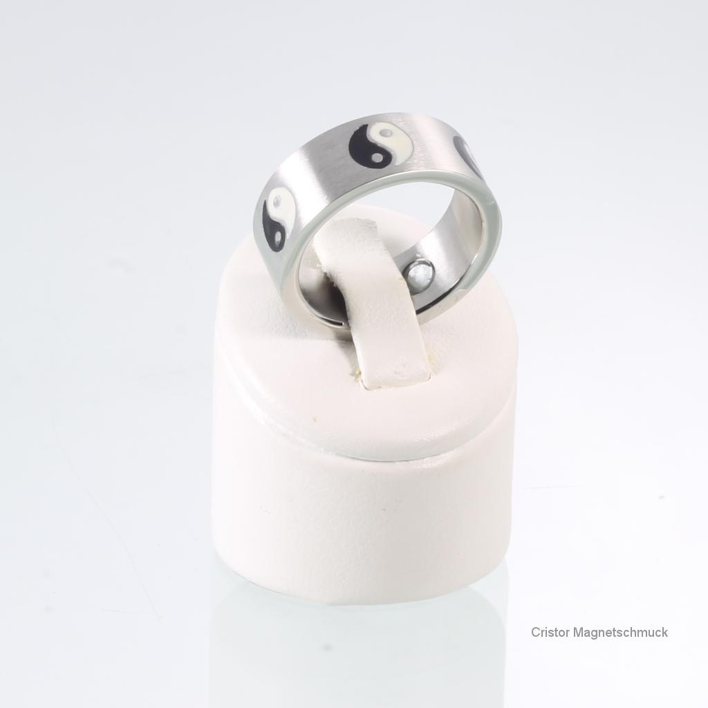 A1618BLSZSet5 - Magnetschmuckset silber schwarz