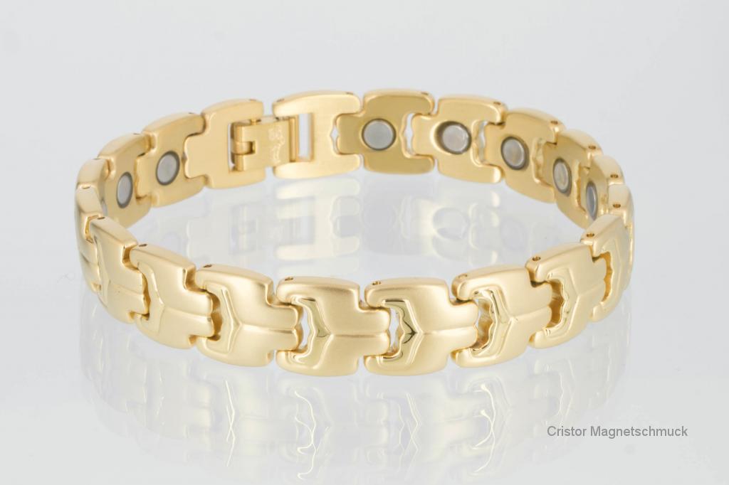 8580G - Magnetarmband goldfarben