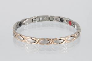 TE8011RGS - Titan-Energiearmband rosegold silber
