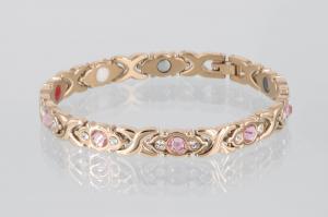 E8042RGZb - 4-Elemente Armband rosegoldfarben mit weißen und rosefarbenen Zirkonia
