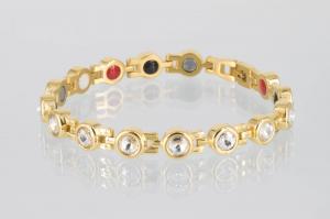 E8530GZ - 4-Elemente Armband goldfarben mit weißen Zirkonia