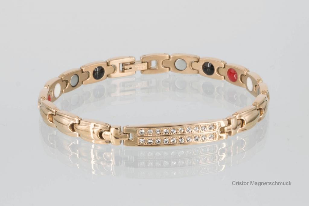 E8178RGZ - 4-Elemente Armband rosegoldfarben mit weißen Zirkonia