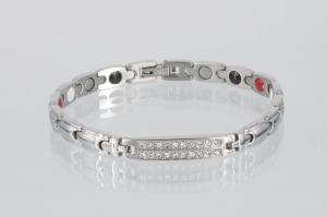 E8178SZ - 4-Elemente Armband silberfarben mit weißen Zirkonia