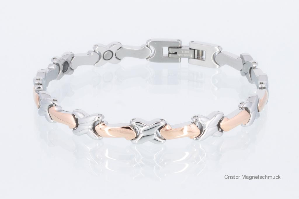 8186RGS - Magnetarmband silber rosegold