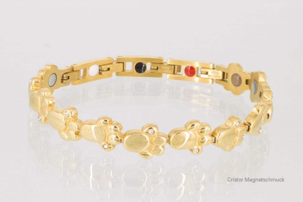 E8410GZSet - Magnetschmuckset goldfarben
