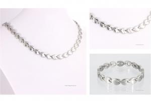 Halskette und Armband im Set silberfarben - h9017sset
